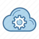 cloud, gear, options, settings, share, sharing, storage icon