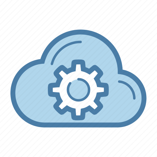cloud, gear, options, settings, storage icon