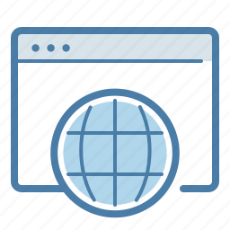 application, browser, global, international, online, presence, service icon