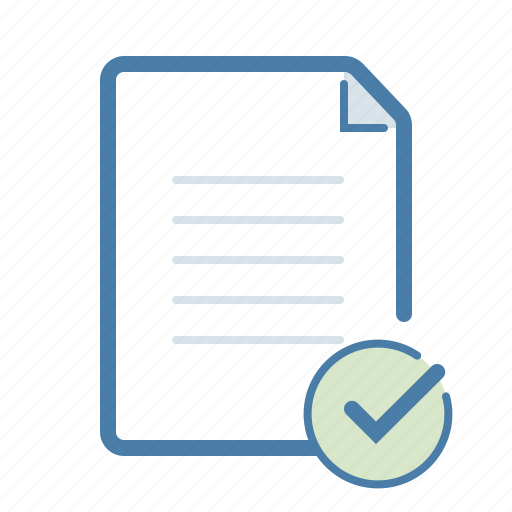 approve, checkmark, document, done, file, success, text icon