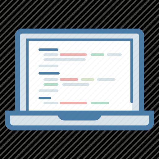 clean code, coding, custom development, development, laptop, monitor, programming icon