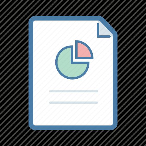 analytics, document, financial graph, pie chart, report, sales, statistics icon