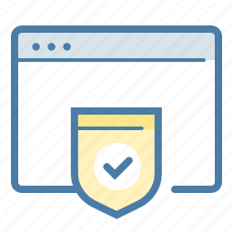 browser, page, protect, protection, safe, security, shield icon