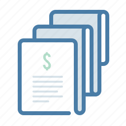 billing, checkout, invoice, payment, payroll, salary, sales report icon