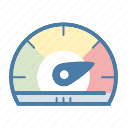 dashboard, fast, gauge, measure, performance, speed, speedometer icon