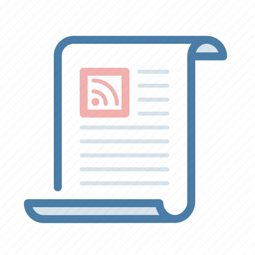 document, feed, file, news, rss, subscription, update icon