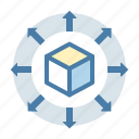 big data, cube, data, data sharing, share, storage icon