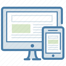 application, devices, interface, layout, mobile, responsive design, screen icon