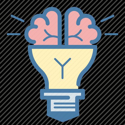 Brain, bulb, idea icon - Download on Iconfinder