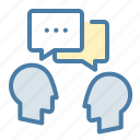 dialogue, discuss, meeting, talk icon