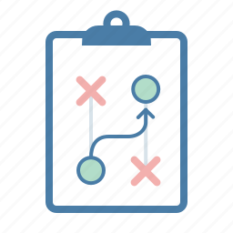 clipboard, management, path, plan, planning, strategy, way icon