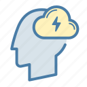 brainstorm, creativity, head, mind icon