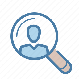 account, find, human, human resources, professional, profile, search icon