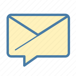 attachment, dialogue, email, envelope, feedback, letter, message bubble icon