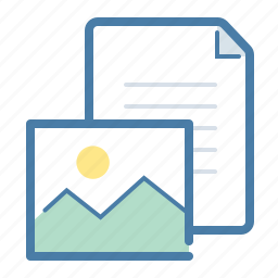 content, document, file, gallery, image, pic, text icon