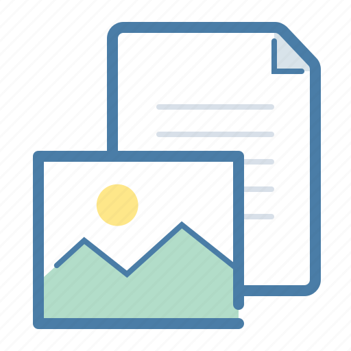 content, document, image, pic icon
