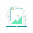 image, laptop, layout, web, web page, website icon