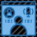 call, design, idea, layout, technology, vdo, web icon