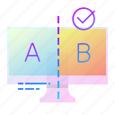 a, ab, b, result, test icon