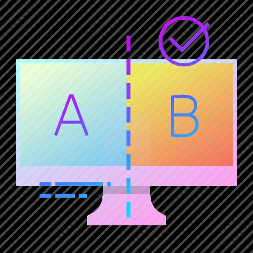 a, ab, b, result, test icon