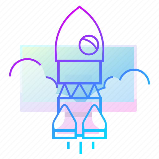 launch, rocket, start, up icon