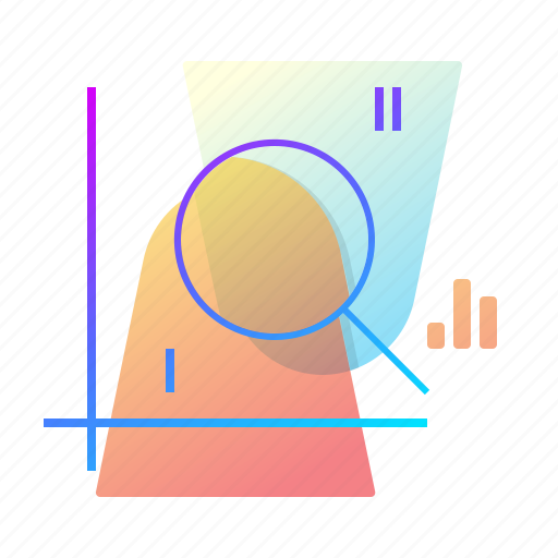chart, definition, magnifier, scope icon