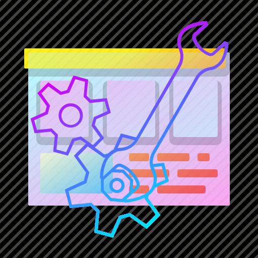 gear, maintenance, settings, site icon