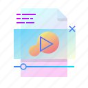 content, file, player, video icon