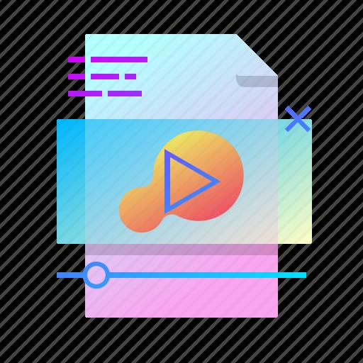 content, file, player, video icon