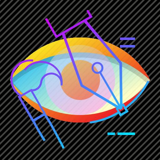 brush, design, eye, visual icon