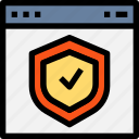 browser, check, interface, page, protection, safe, shield, web, website icon