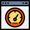 browser, interface, page, speedometer, test, tool, web, website icon