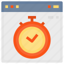 browser, interface, page, stopwatch, time, timer, web, website icon