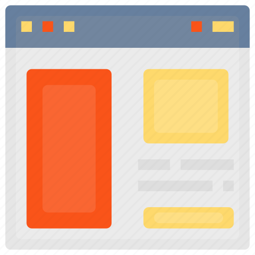 browser, interface, internet, page, web, website, wireframe icon