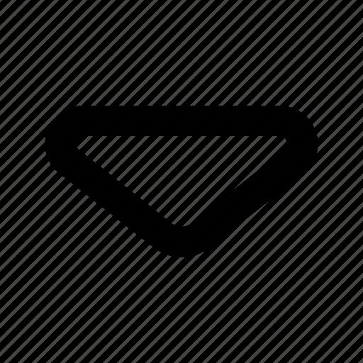 arrow, bottom, direction, down, sign, straight, web icon