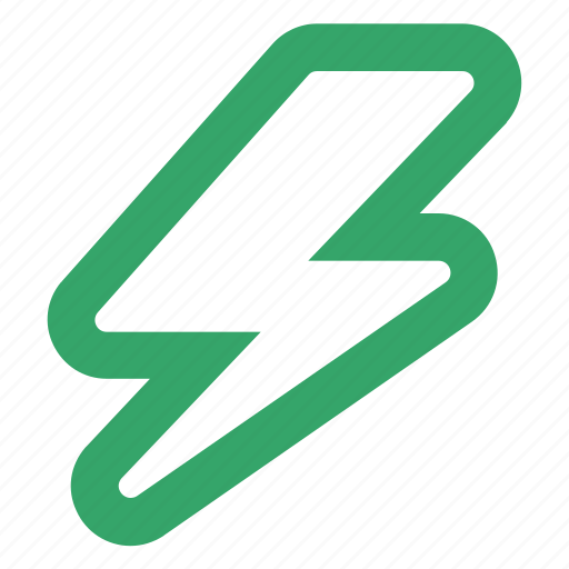 electricity, flash, lightning, online, power, shock, web icon