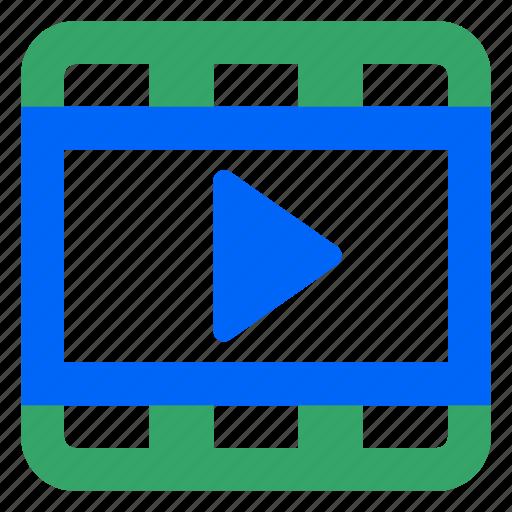 cinema, film, media, movie, play, stream, video icon