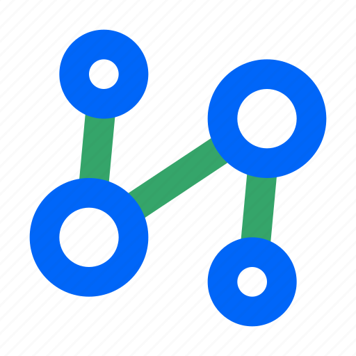 connection, data, link, network, share, social, web icon
