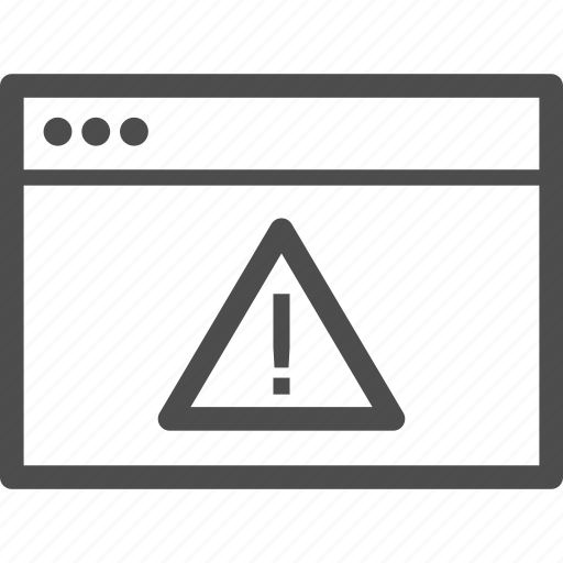 alert, error, internet, notice, warning, website icon