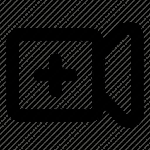 add, video, website icon
