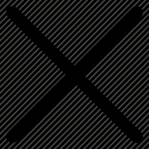 close, cross, exit, website icon