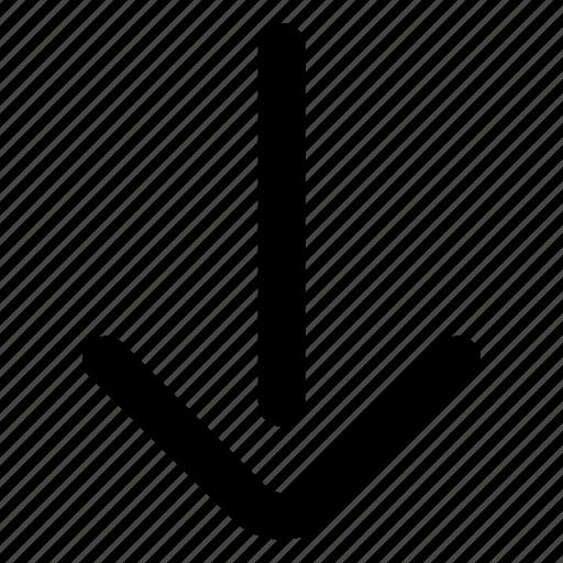 arrow, down, website icon