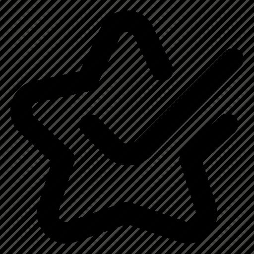 Bookmark, favorite, star, check, ui icon - Download on Iconfinder