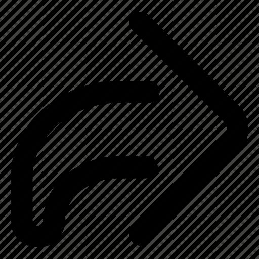 arrow, forward, share, website icon