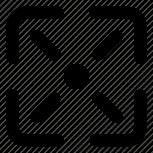 fullscreen, website, window icon