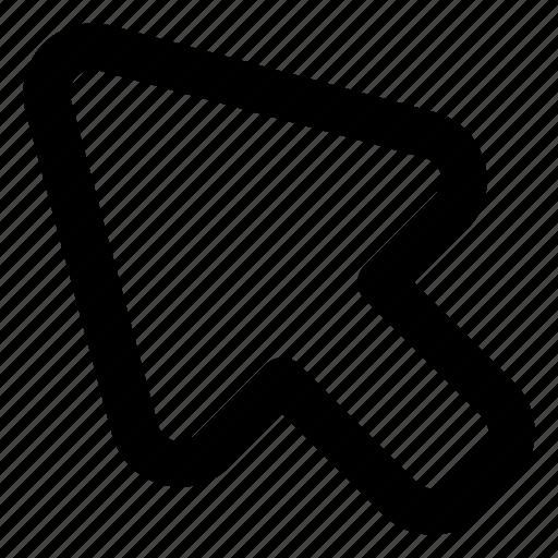 arrow, click, pointer, website icon