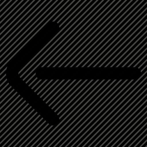 arrow, back, previous, website icon