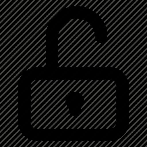 padlock, unlock, website icon
