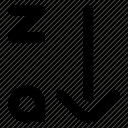 arrow, descending, sort icon