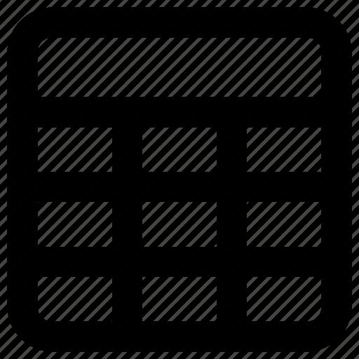 agenda, schadule, table icon